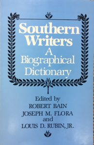 Southern Writers, A Biographical Dictionary