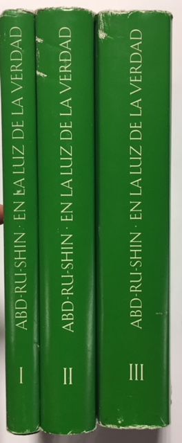 EN LA LUZ DE VERDAD MENSAJE DEL GRIAL ABD RU SHIN Three Volumes
